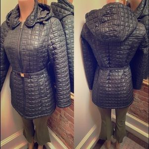 KATE SPADE| black puffer with belt| M